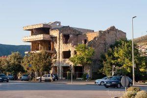 Mostar: Edificio derruido por la guerra de los Balcanes