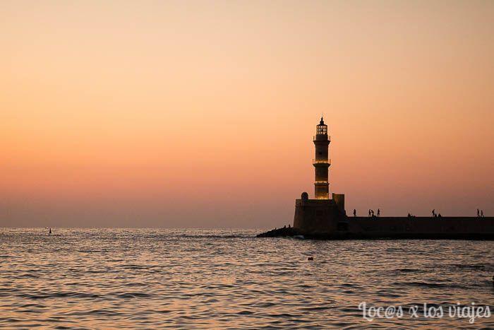 Tres días en Creta con coche de alquiler: atardecer en Chania