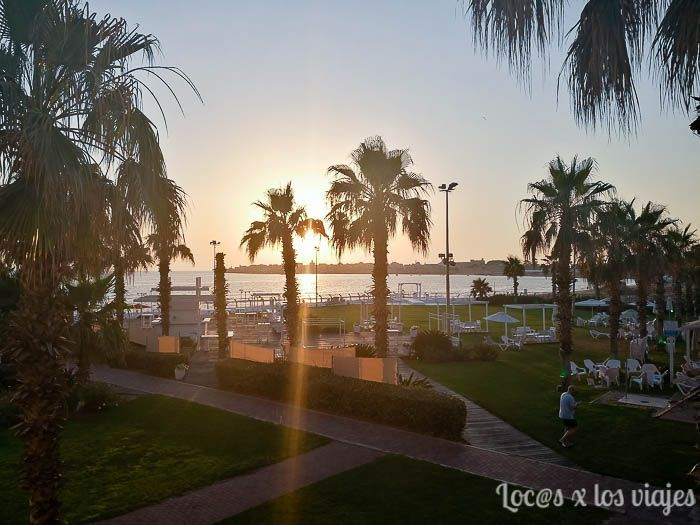 Vistas desde el Hotel Rimonim Palm Beach en Acre