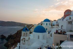 Santorini: Atardecer en Oia