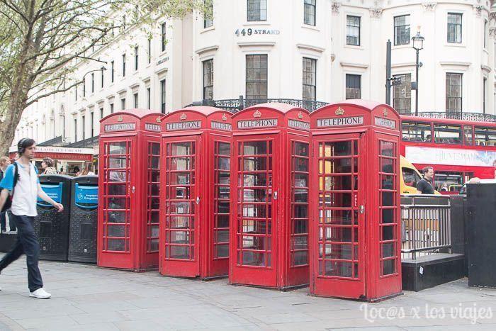 Típicas cabinas telefónicas de Londres
