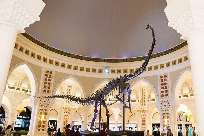 Dinosaurio en el Dubai Mall