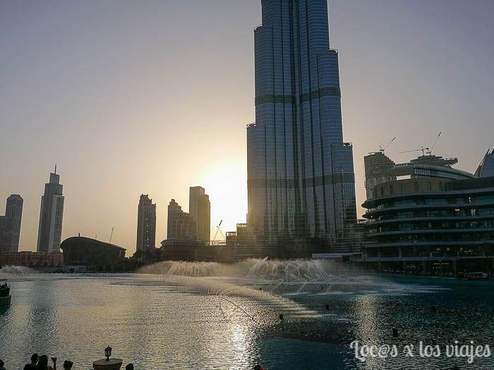 Espectáculo en Dubai Fountain