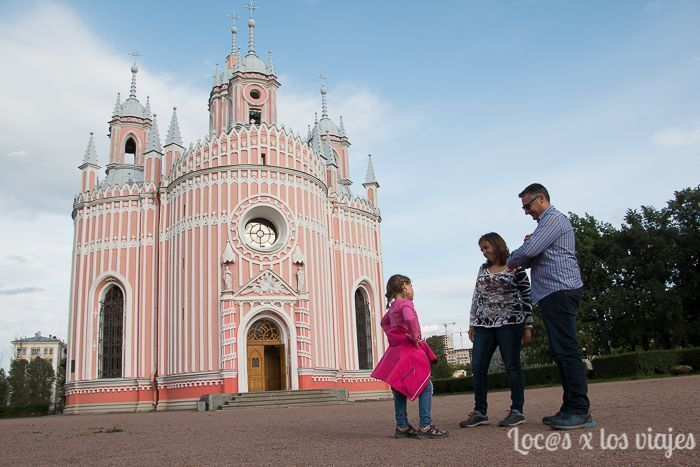 Iglesia de Chesme en San Petersburgo, Rusia