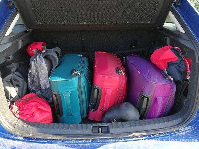 Nuestras maletas Gabol en el coche de alquiler