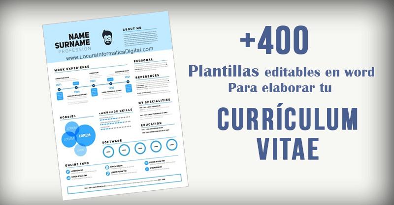 plantilla editable curriculum vitae