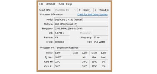 Cómo verificar la temperatura del procesador