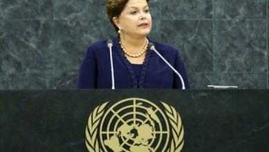Dilma Rousseff spreekt Algemene Vergadering van VN toe