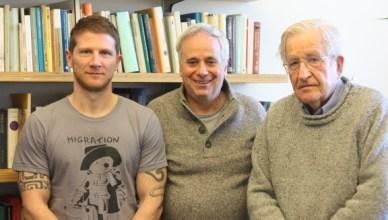 Frank Barat, Ilan Pappé en Noam Chomsky