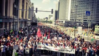 Tienduizend vreedzame betogers samen in Brussel om vrede en rechtvaardigheid te eisen voor Gaza en Palestina