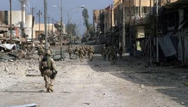 Fallujah is al de meest door de bezetting geteisterde stad van Irak, hier tijdens het tweede Amerikaanse offensief van november-december 2004