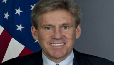 Christopher Stevens, 52 jaar, VS-ambassadeur, vermoord in het Amerikaanse consulaat in Benghazi samen met drie van zijn medewerkers