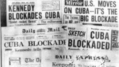 De eenstemmigheid van de media over de crisis in Cuba in 1962 is een kopie van de hedendaagse berichtgeving over Irak, Afghanistan, Lybië, Iran, China ...