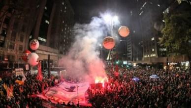 Op 10 juni 2016 protesteerden meer dan 100.000 betogers in São Paulo tegen de 'staatsgreep'