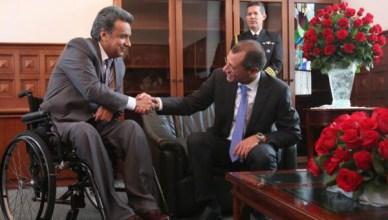 Lenin Moreno (links) in mei 2016 met vicepresident Jorge Glas, die nu onder hem vicepresident blijft
