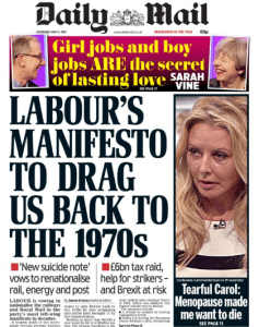 Labour's Manifesto to drag us back to the 1970's
