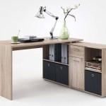Slumberhaus Lex Oak Modern Corner Computer Desk Lodge Furniture Uk