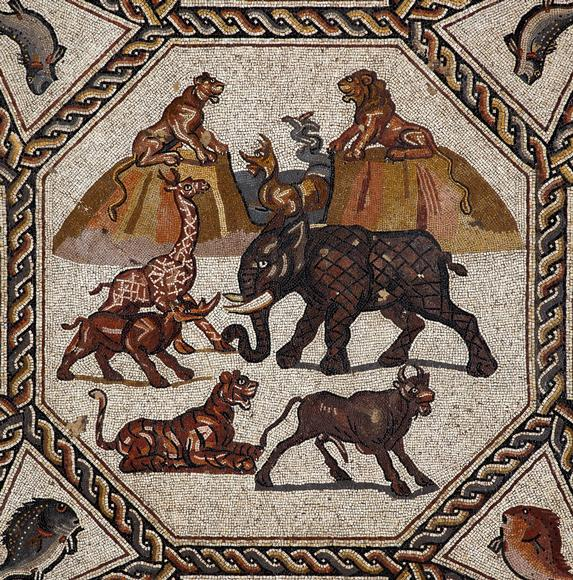 Image result for Ancient Roman animal mosaic