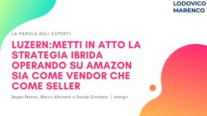 LUZERN | Metti in atto la STRATEGIA IBRIDA. Opera su Amazon sia come Vendor, sia come Seller.