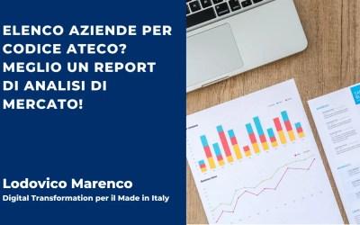 Elenco aziende per codice ATECO? Meglio un report di analisi di mercato!