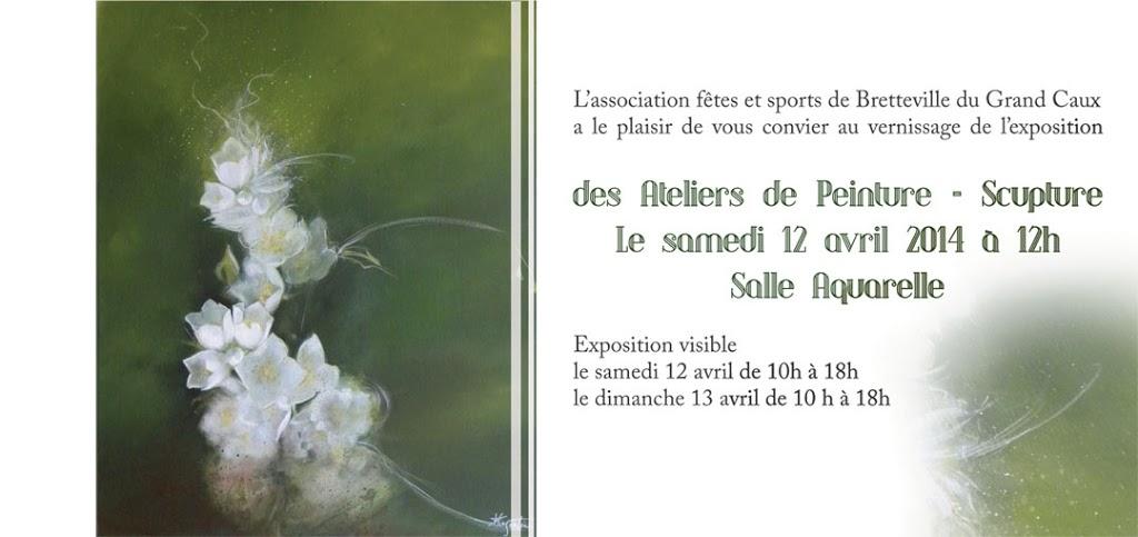 Invitation Pour L Exposition Peinture Sculpture De Bretteville 2014