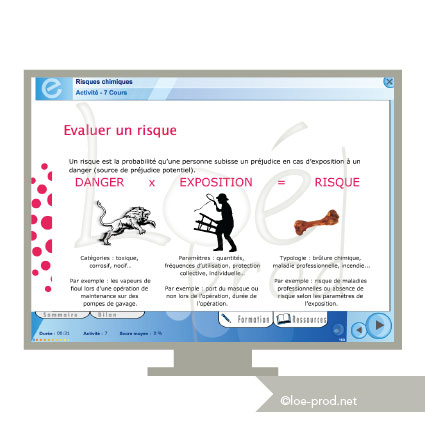 Page de cours e-learning