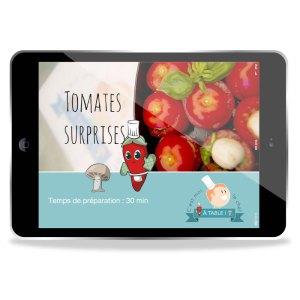 Les recettes peuvent être consultées sur tablettes par exemple