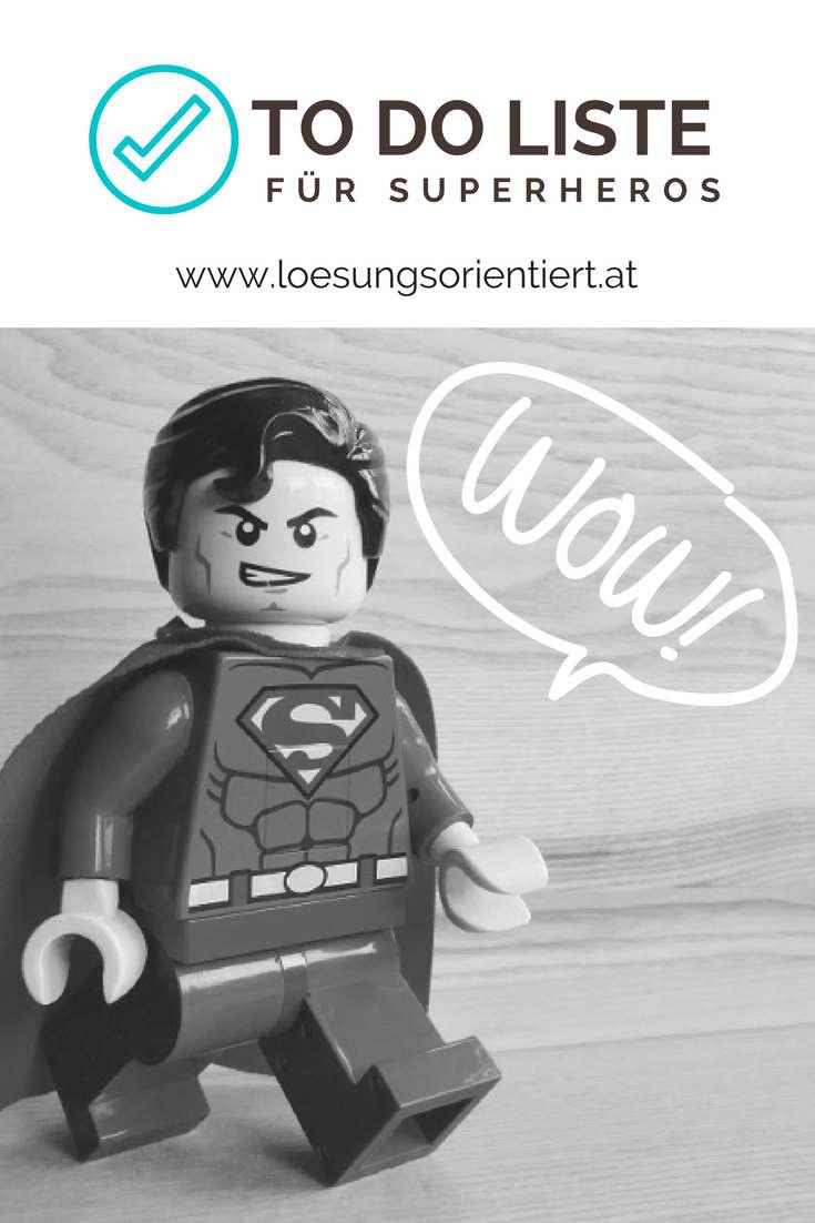 To Do Liste für Superheros