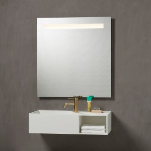 Venice spejl med lys og multiwhite lys fra loevschall, tændt LED lys