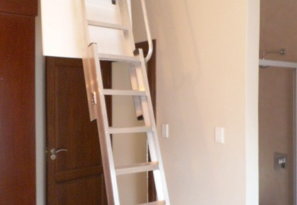 Loft storage access with Loft E Ladder