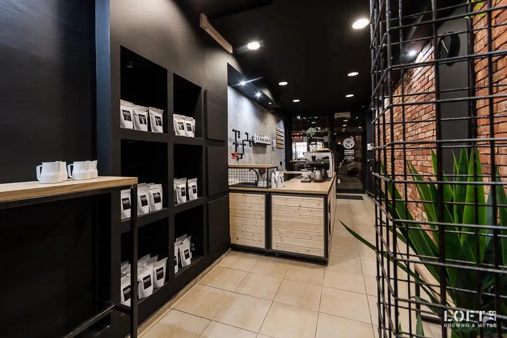 Loft 87 realizacja wyposażenia lokalu Coffe Shop