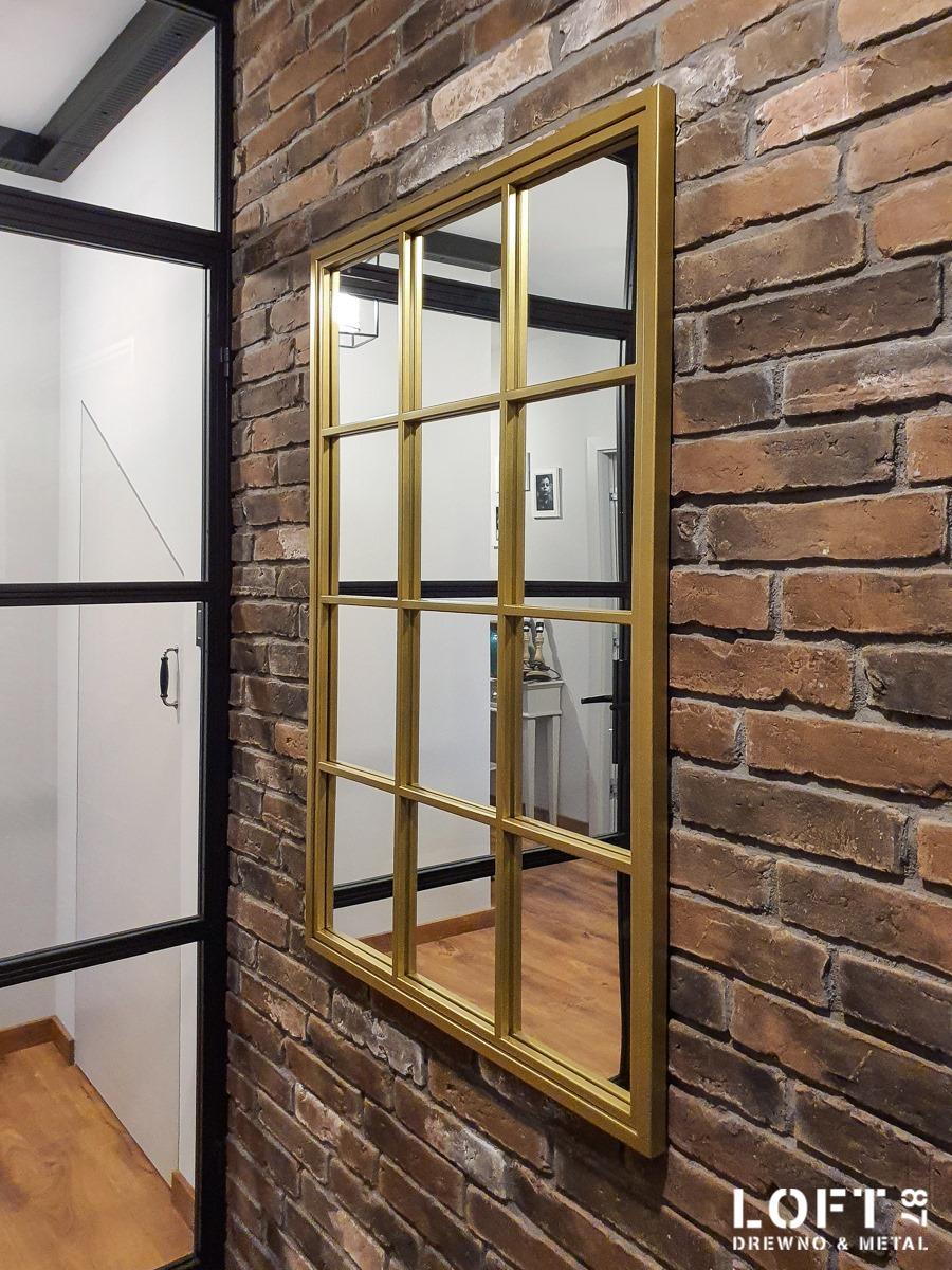 Loftowe lustro ze szprosami New York