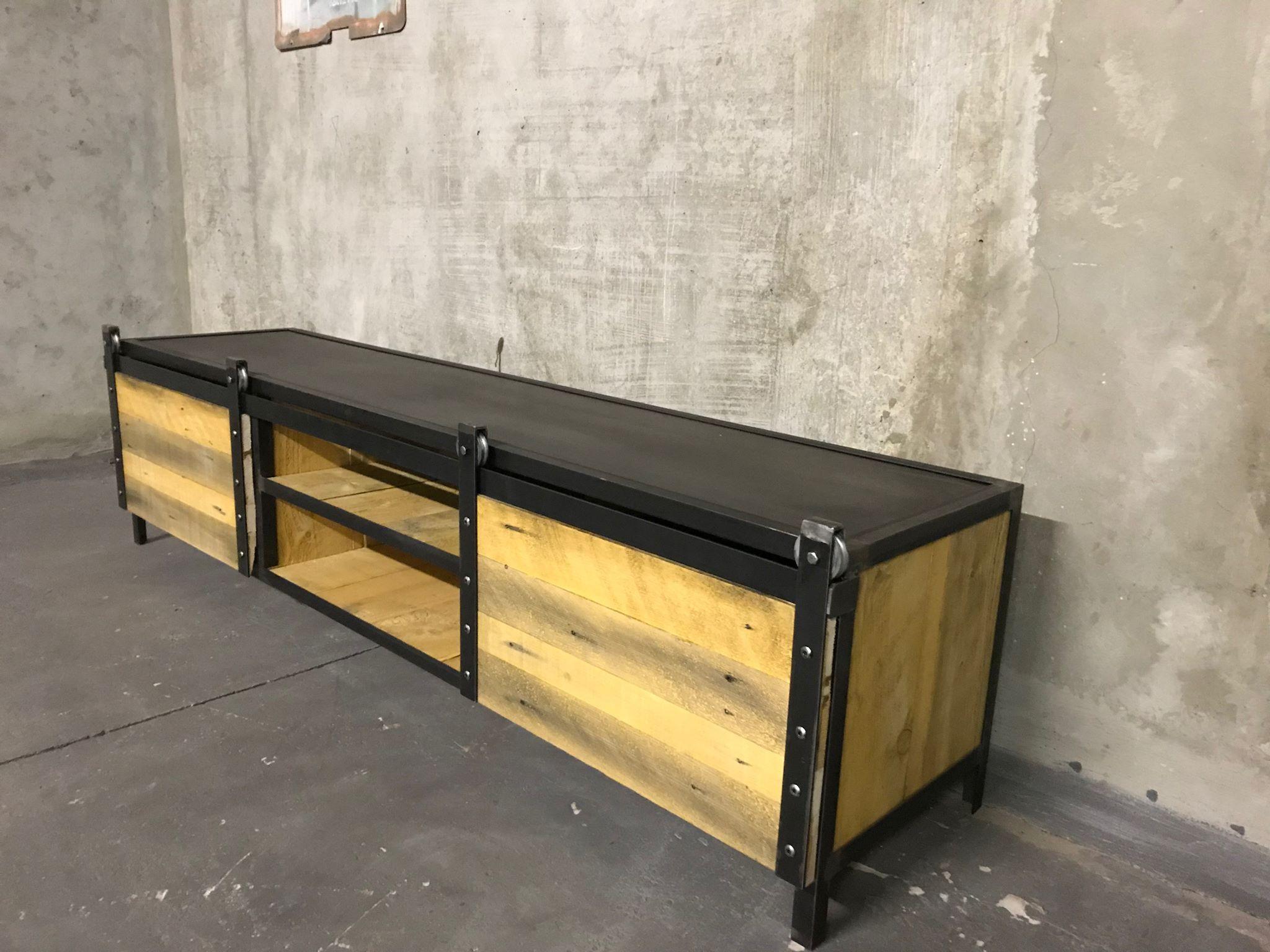 meuble tv industriel 200h