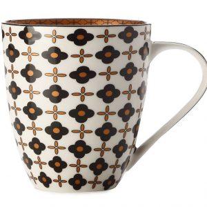 CHRISTOPHER VINE Marigold Mug – Black Flower (500ml) CV61500