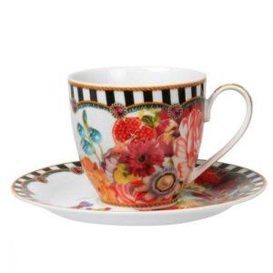 MELLI MELLO TEA CUP & SAUCER STRIPES 150 ML