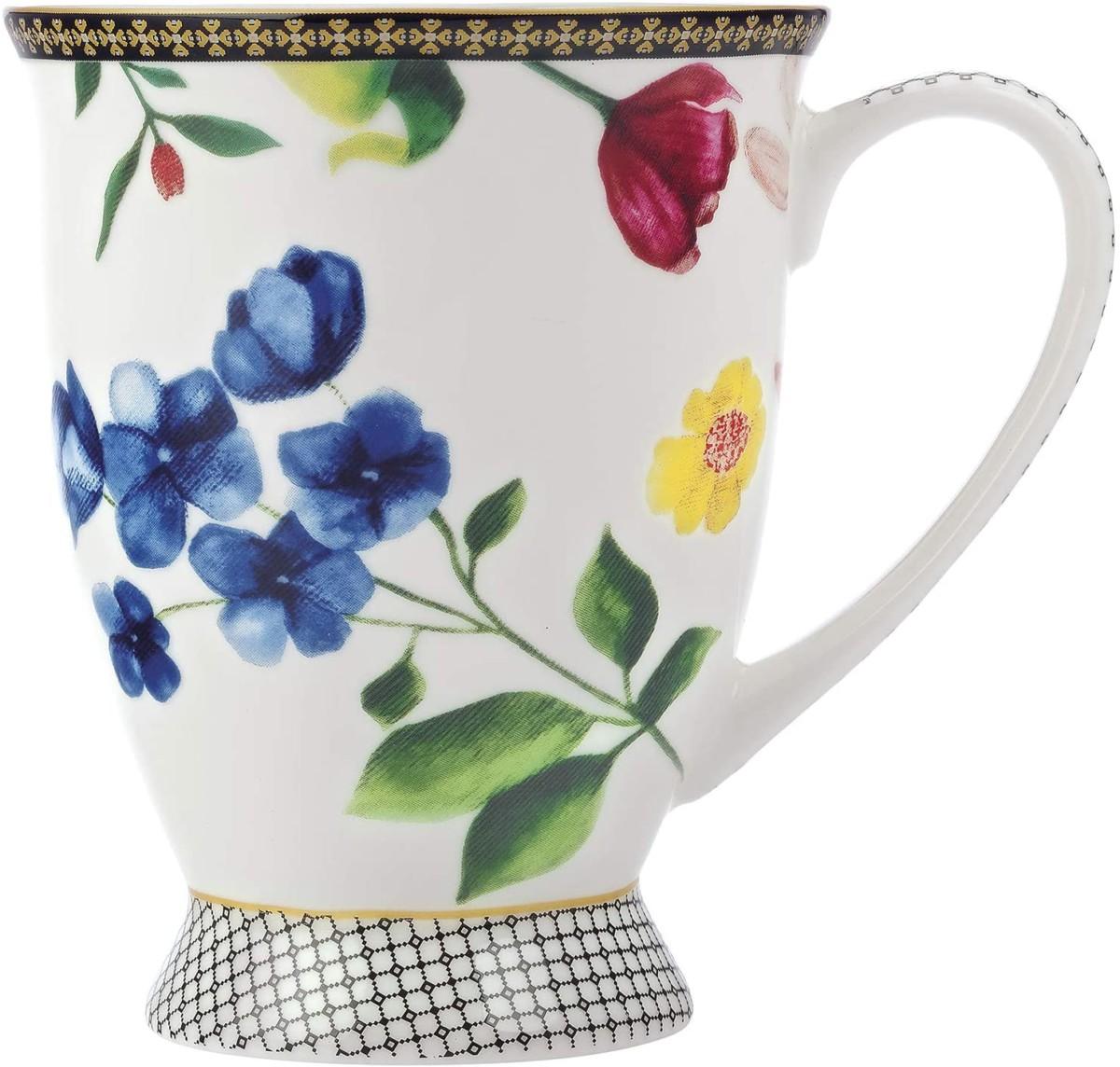 Maxwell & Williams Tazza Da Caffè/tè, Motivo: Contessa, Porcellana, Bianco, 300 Ml