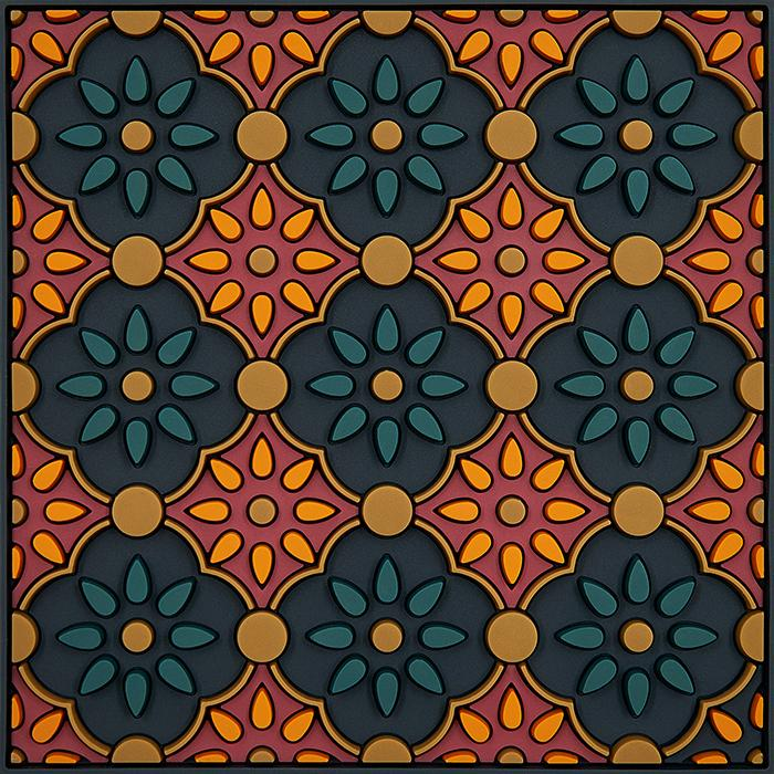 Sottobottiglia | Zahra Orange | Images D'Orient 11×11 Cm