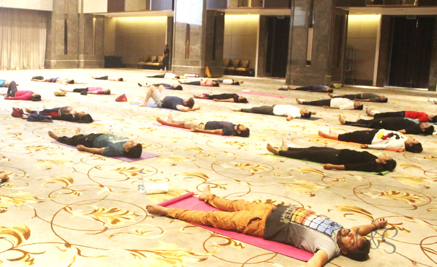 The international yoga day with Shangrila