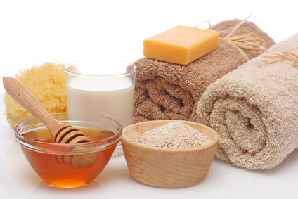 Oatmeal, milk and honey spa