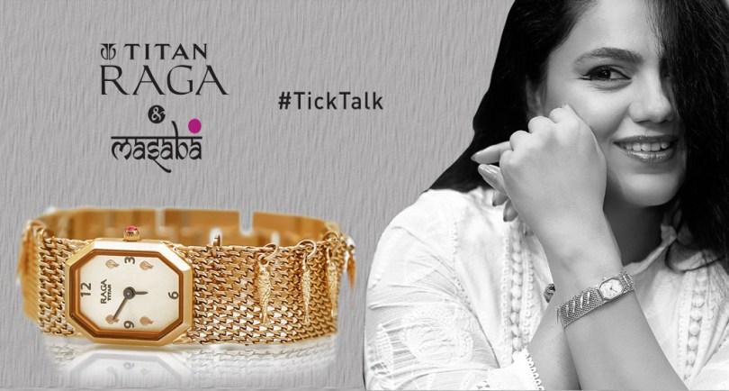 Titan-Raga-collaborates-with-Masaba-Gupta-ticktalk-
