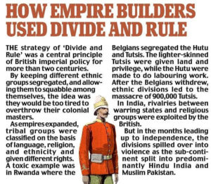 british divide and rule policy