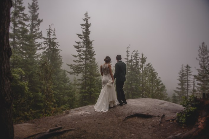 sea to sky gondola wedding bride and groom portrait