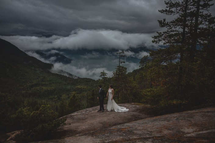 sea to sky gondola wedding bride and groom