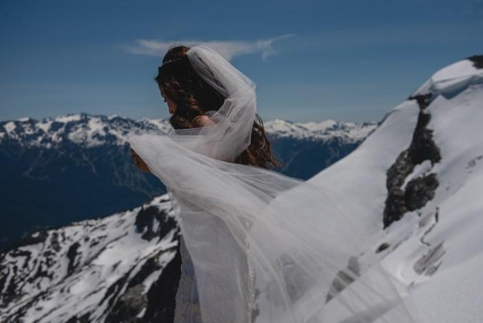 whistler heli bride portrait