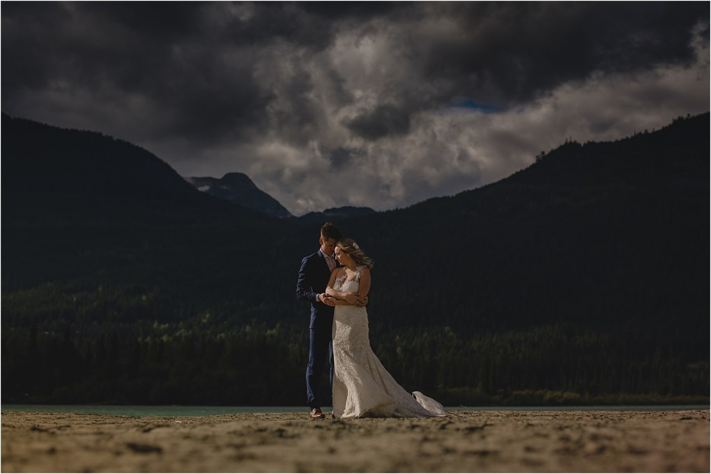 A bride and groom love story in Whistler, BC