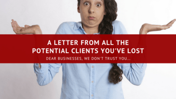Here's A Letter From All The Potential Clients You've Lost...