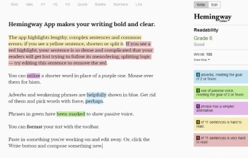 Copy-and-paste your article into the Hemingway App to check your writing's grade level.