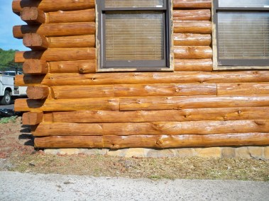 New logs stained