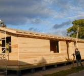 Mobile Home 67 - Timber frame built to wind and water tight in 5 days