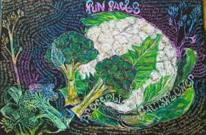 Broccoli and Cauliflower study by Marthucia Lombard